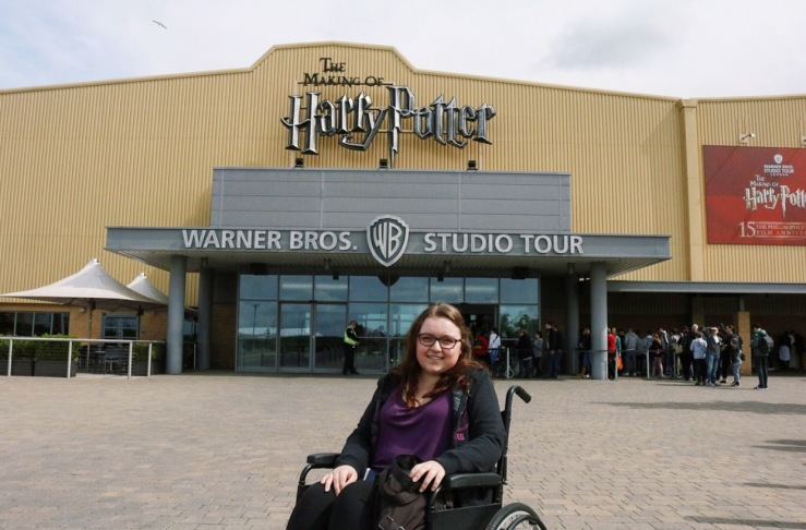 Outside the entrance to the Warner Bros.Harry Potter Studio Tour