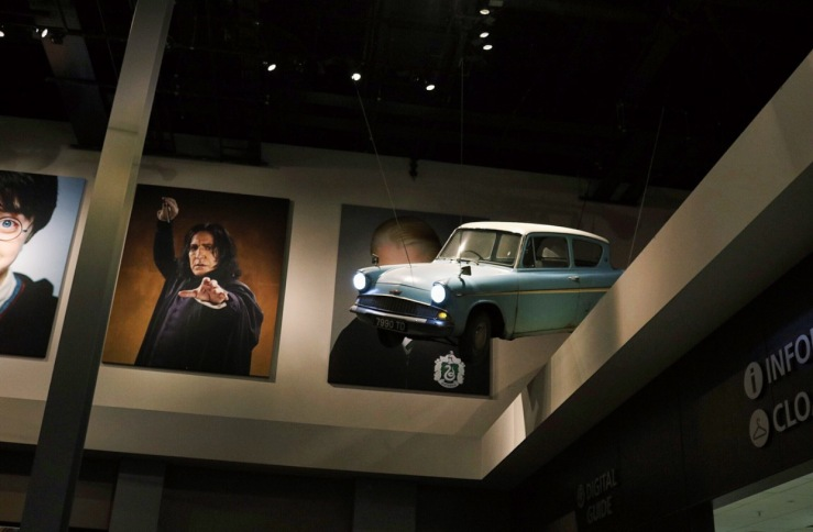 Within the Entrance Hall - Character Pictures and Weasley's Flying Car