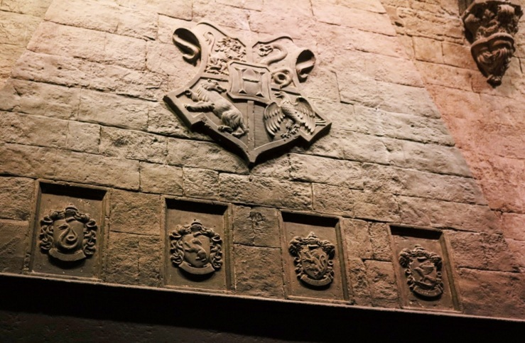 House Crests carved onto the Fireplace