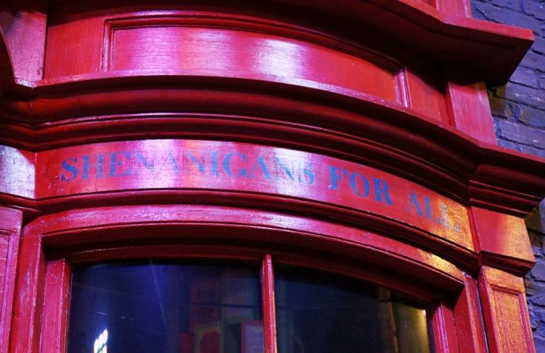 Shenanigans for all Weasley shop sign