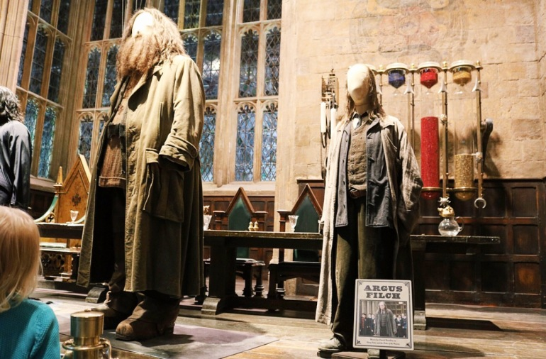 Hagrid and Filch costumes
