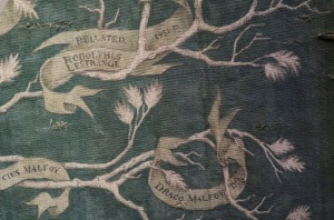 Black Family Tree Tapestry - Bellatrix, Lucius and Malfoy spots