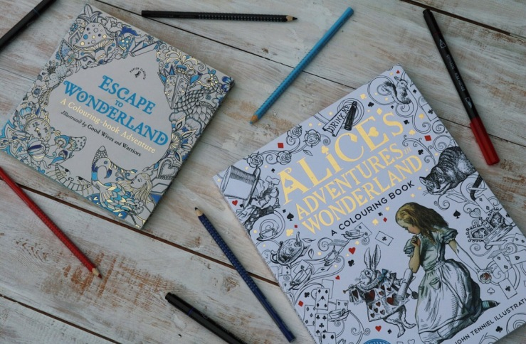 Colouring Books - Escape to Wonderland & Alice's adventures in Wonderland
