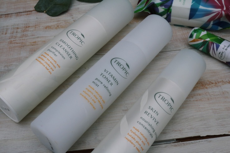 Tropic Products - smoothing cleanser, vitamin toner & skin revive
