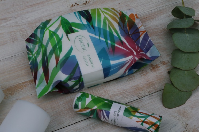 Tropic products - bamboo cloth & eye refresh