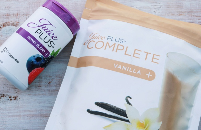 Juice Plus Berry Capsules and Vanilla Shake Powder